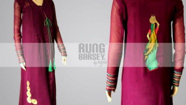 Rung Barsey By Nyla Latest Winter Party Wear Collection 2013 For Women 001