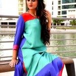 Turquoise Latest Winter Dresses 2012-2013 For Women 0011