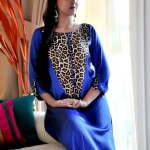 Turquoise Latest Winter Dresses 2012-2013 For Women 002