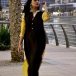 Turquoise Latest Winter Dresses 2012-2013 For Women 003