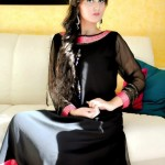Turquoise Latest Winter Dresses 2012-2013 For Women 007