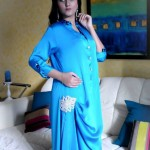 Turquoise Latest Winter Dresses 2012-2013 For Women 009