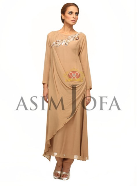 Asim Jofa Latest Semi Formal Dresses 2013 For Women 001