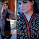Black & White Embroidered Net Latest Semi Formal Eastern Women Dresses 2013 by Farheen Ali