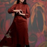 Damak Latest Mid Winter Dresses 2013 For Women 003