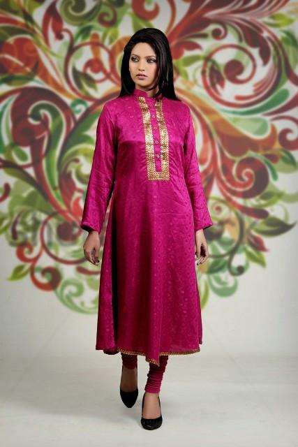 Damak Latest Mid Winter Dresses 2013 For Women 006