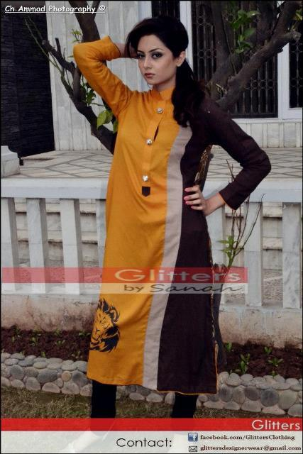 Glitters Latest Winter Dresses 2013 For Women 001