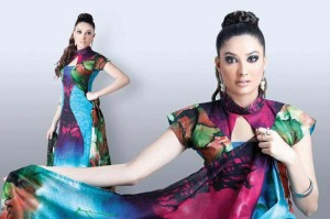 Hinzz Ali Latest Party Wear Dress Collection 2013-2014 For women