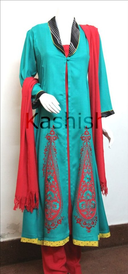 Kashish 2013 Winter Party Wear Dresses 006