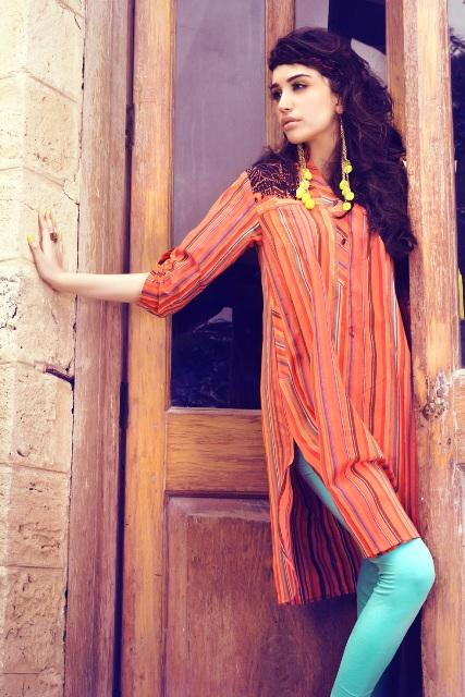 Khaadi Latest Winter Pret Dresses 2013 For Women 001