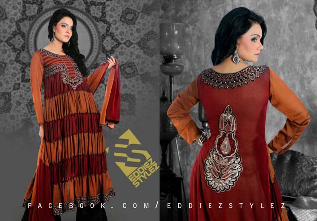Latest Winter Dresses 2013 By Eddiez Stylez Glamour 0010