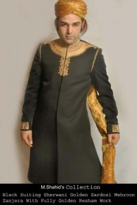 Pakistani Groom Latest Sherwani Fashion Shoot 2013 by RiziShah