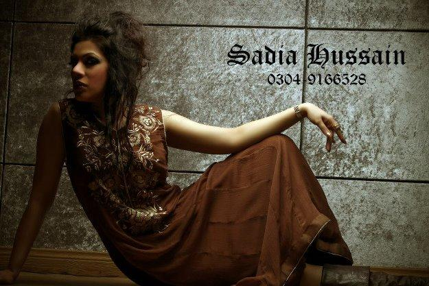 Sadia Hussain Latest Winter Party Dresses 2013 For Women 001