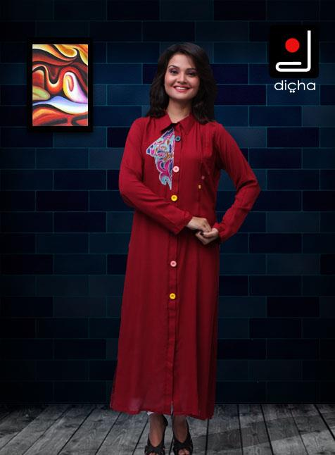 Dicha Latest Kurti Collection 2013 for Girls 001