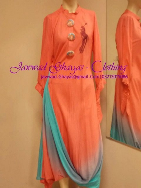 Jawwad Ghayas Latest casual wear New Dresses collection 2013-14 for women (8)