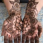 Latest Beautiful Valentines Day Mehndi Collection 2013 For Girls 02