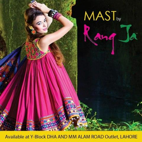 Mast By Rang Ja Spring Latest Dress Collection 2013 For Women