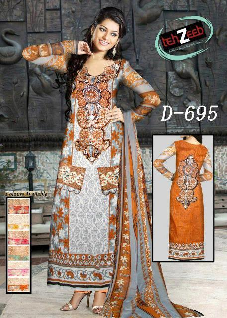 Tehzeeb Fabrics Latest Winter Collection For Girls (9)