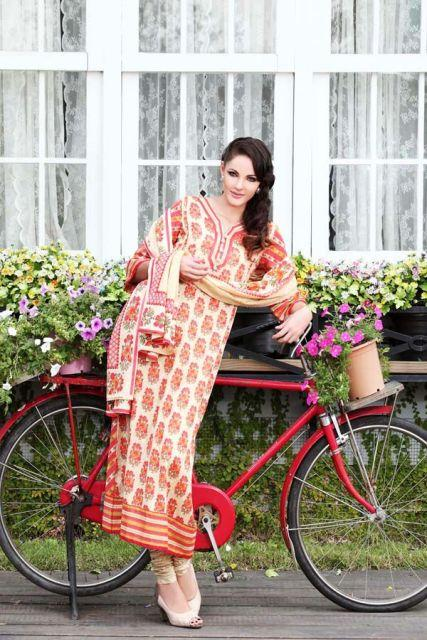 Warda Designer Latest Spring Summer Lawn Women Dresses Collection 2013-2014 (1)