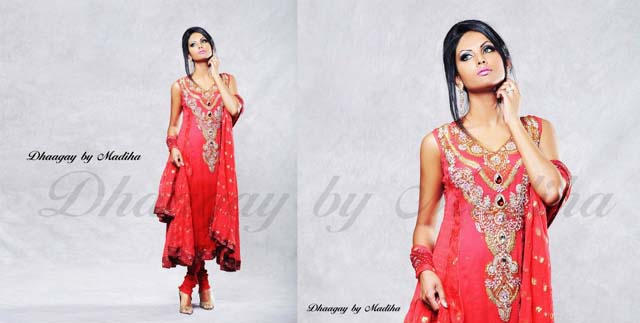 Dhaagay Latest Party Wear Collection 2013 for women 006