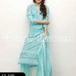 Gul Ahmed Latest Embroidered Summer Lawn Dresses Collection 2013-14 for Women (1)