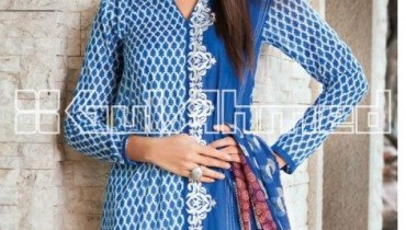Gul Ahmed Latest Embroidered Summer Lawn Dresses Collection 2013-14 for Women