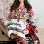 Gul Ahmed Latest Embroidered Summer Lawn Dresses Collection 2013-14 for Women (8)