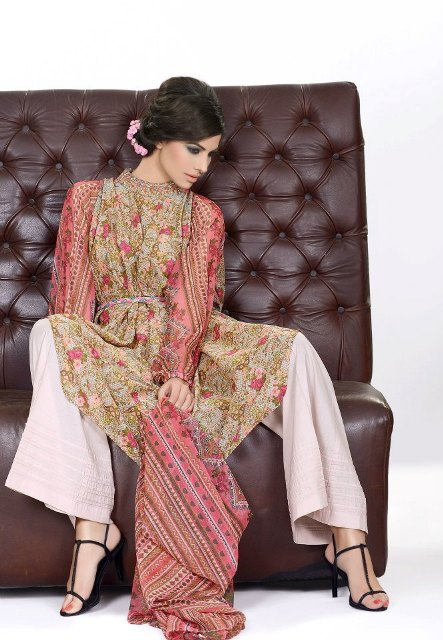 Khaadi Lawn prints 2013 Floral Collection for women 01