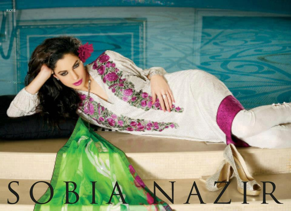 Latest Pakistan Dresses Collection 2013 By Sobia Nazir 009