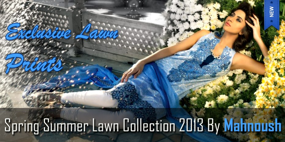 Latest Spring Summer Lawn Dresses Collection 2013 By Mahnoush 001