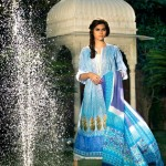 Latest Spring Summer Lawn Dresses Collection 2013 By Mahnoush 007