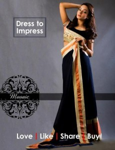 Mosaic By Sundus Latest Formal Wear collection 2013 for women 005
