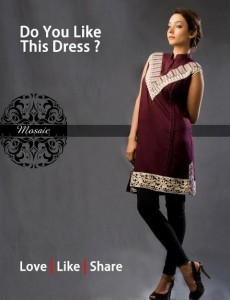 Mosaic By Sundus Latest Formal Wear collection 2013 for women 006