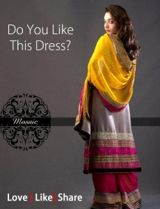 Mosaic By Sundus Latest Formal Wear collection 2013 for women 007