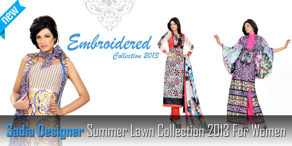 Sadia Designer Summer Lawn Collection 2013 001