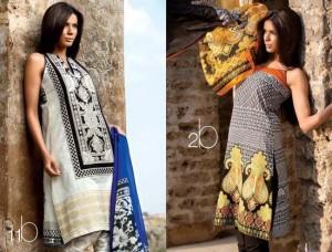 Sana Safinaz Lawn Dresses Collection 2013 001