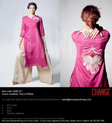 Spring Casual Wear Collection 2013 By Change Fabrics 007