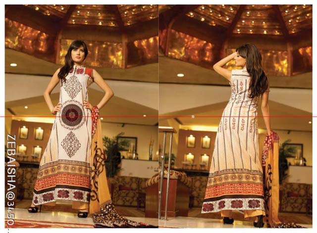 Zeb Aisha Spring Summer Lawn Collection 013 by Al Zohaib Textile 001