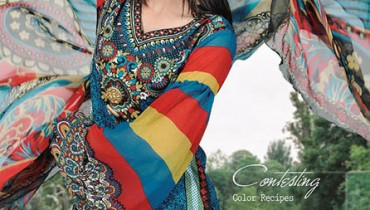 Latest Aalishan Chiffon Lawn Collection 2013 For Women