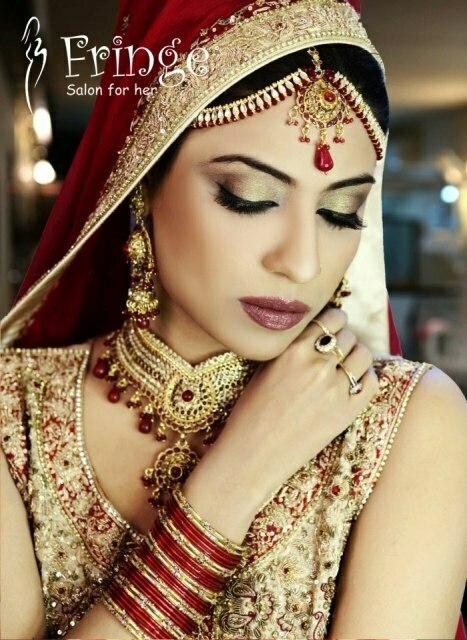 Latest Bridal Makeover Shoot 2013 Shagufta Fringe