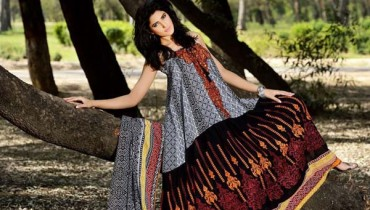 Firdous Embroidered Swiss Voil Latest Collection 2013 For Women 001