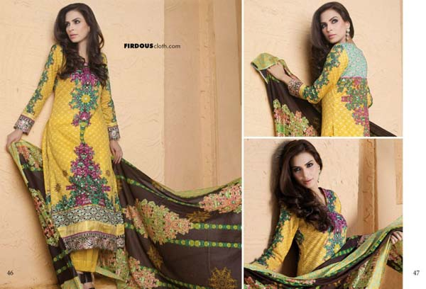Firdous Printed Lawn Collection 2013 For Women 0012