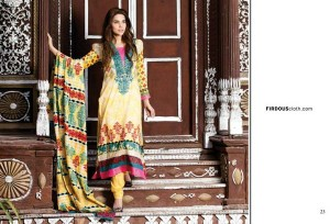 Firdous Printed Lawn Collection 2013 For Women 0014