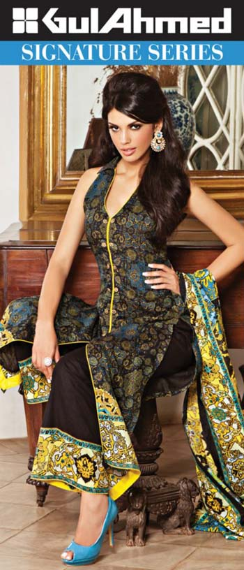 Gul Ahmed Signature Series Lawn 2013 001