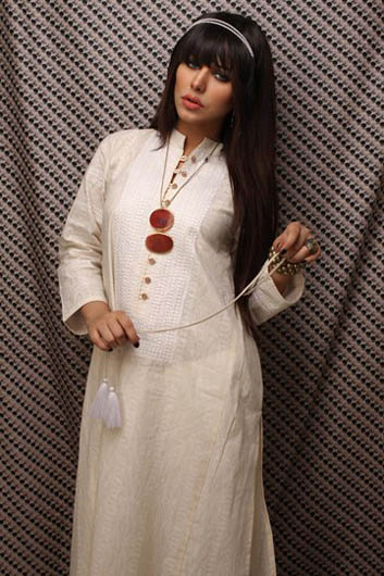 beautiful Khaadi Latest White Dresses Collection 2013