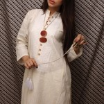 Khaadi White on White Summer Lawn Dress Collection 2013 For Ladies 003
