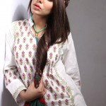Khaadi White on White Summer Lawn Dress Collection 2013 For Ladies 005