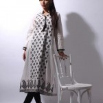 Khaadi White on White Summer Lawn Dress Collection 2013 For Ladies 006