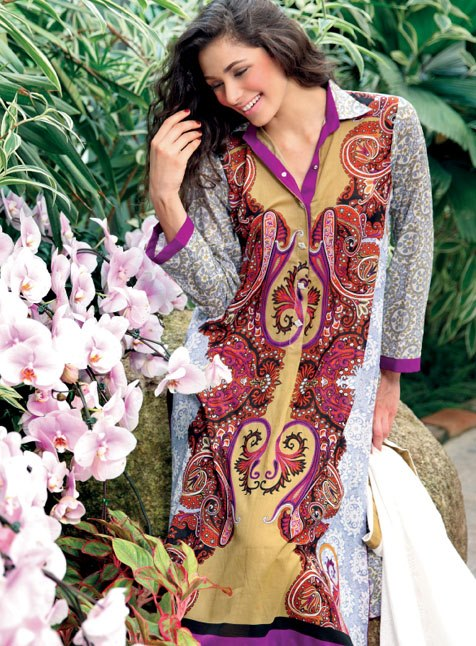 Collection Latest Komal Lawn  By Lakhany Silk Mills 2013