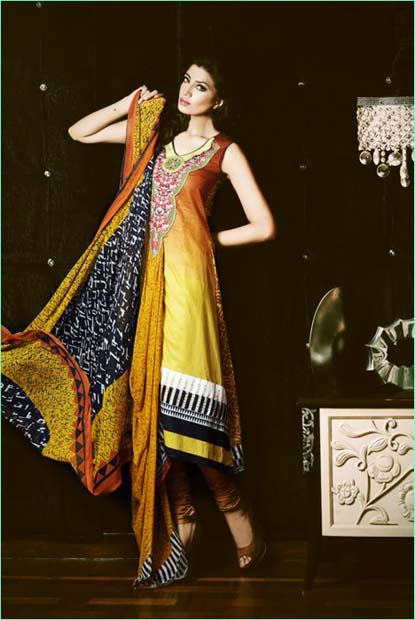 Kuki Concepts Lawn Collection 2013 For Women by Dawood Textile 01